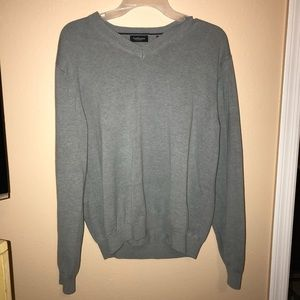{van huesen} men's gray sweater